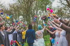 Goodness me, this wedding ideas shoot is just so much fun you guys! It really screams bright, beautiful and bold alternative inspiration for couples that want Wedding Confetti, Festival Wedding, Woodland Wedding, Over The Moon, Colored Paper, Wedding Inspiration, Wedding Ideas, Whimsical, Alternative
