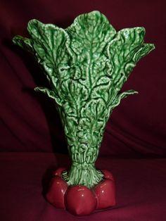 Large Vintage Bordallo Pinheiro Caldas da Rainha Art Pottery Vase - SOLD