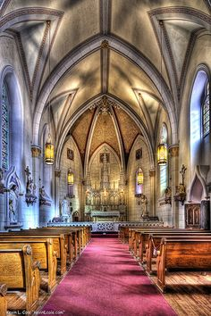 The Loretto Chapel in Santa Fe, New Mexico by kevincole, via Flickr