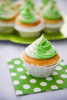 Some the Wiser: Mint Lime Cupcakes with Lime Curd Filling