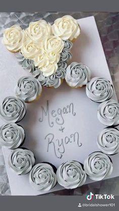 Wedding Shower Cupcakes, Bridal Shower Desserts, Bridal Shower Cupcakes, Gold Bridal Showers, Bridal Shower Rustic, Bridal Shower Party, Bridal Shower Decorations, Shower Cakes, Bridal Shower Treats