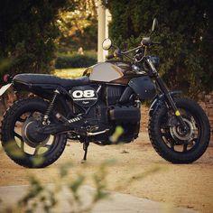OVERBOLD MOTOR CO. — Badass Beemer #bmw #k75 #scrambler #tracker...