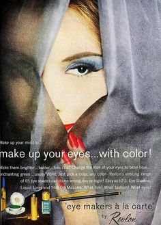 Eye Makeup by Revlon, April 1961 Vintage Makeup Ads, 60s Makeup, Vintage Nails, Vintage Beauty, Vintage Glamour, Revlon, Retro Ads, Vintage Advertisements, Retro Vintage