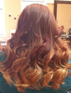 My new hair :)  Red blonde ombre
