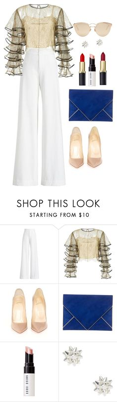"""""""fashion"""" by ee3674889 ❤ liked on Polyvore featuring Ralph Lauren Collection, HUISHAN ZHANG, Christian Louboutin, Azzaro, Bobbi Brown Cosmetics, Christian Dior and polyPresents"""