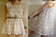 Beyaz dantelli bluz modelleri Jumper, White Lace Blouse, Blouse Models, Crochet Patterns, Two Piece Skirt Set, Knitting, Skirts, Dresses, Facebook
