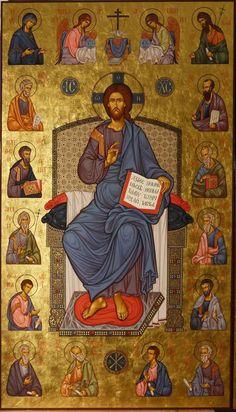 Mantuitorul Christos si apostolii