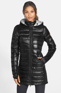 Canada Goose 'Hybridge Lite' Slim Fit Hooded Packable Goose Down Coat available at #Nordstrom