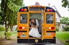 High school sweet hearts. So appropriate seeing as we are high school sweethearts and we will have a bus! :)