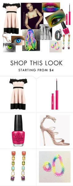 """Doll"" by eyeless-angel-of-death ❤ liked on Polyvore featuring Boohoo, Illamasqua, Sigma, OPI, Dsquared2, Ippolita and AeraVida"