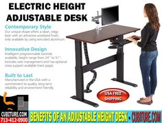 Adjustable Height Desk By Cubiture.com. Buy affordable adjustable height desk direct from the manufacturer cubiture.com with FREE SHIPPING In The USA