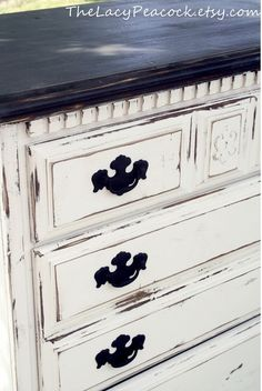White Chalky Paint Dresser Makeover | Chalky paint, Country chic ...