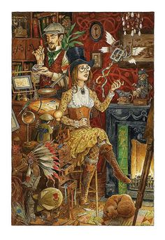 Print. Toymaker's Workshop by davidwyatt on Etsy