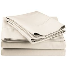 Darby Home Co Freeburg 600 Thread Count Sheet Set Color: Ivory, Size: King