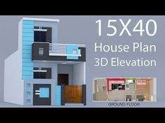 House ground floor plan with elevation by nikshail House Balcony Design, House Arch Design, Architect Design House, Duplex House Design, House Design Photos, Small House Design, Apartment Design, 2bhk House Plan, Model House Plan