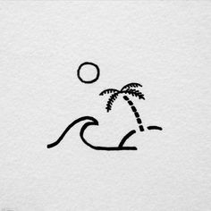 david rollyn keep it simple drawings, small drawings, art - simple beach drawing Doodle Drawings, Doodle Art, Drawing Sketches, Drawing Ideas, Hipster Drawings, Drawing Designs, Mini Drawings, Drawing Quotes, Sketch Art