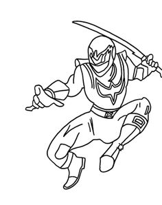Power Rangers Samurai Verde Coloring Page For Kids