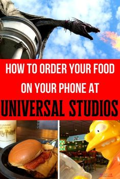 How to order your food on your phone at Universal Studios.   Click image to learn how to use the Universal Studios Mobile Ordering app on your next trip!   #UniversalStudios #UniversalOrlando