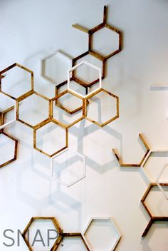 West Elm Honeycomb- I'd like to somehow remake this for a cool wall display.