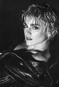 The Papa Don't Preach cover session. Photo by Herb Ritts.1986.