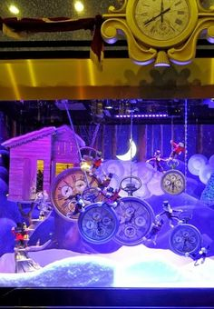 Galleries Lafayette Christmas Window Display 2013 via Couture Millinery Atelier.
