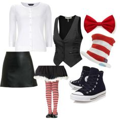 """Cat in the hat costume (seusical) #1"" by tammy-pachis on Polyvore"
