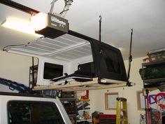 Building (DIY) raised hardtop hanger for storage 2013 Jeep Wrangler Unlimited, Jeep Rubicon, Jeep Jk, Jeep Truck, Jeep Wrangler Tops, Jeep Wranglers, Jeep Hardtop Storage, Jeep Hard Top, Roof Storage