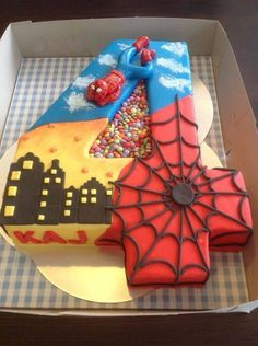 Spiderman 4 years old cake