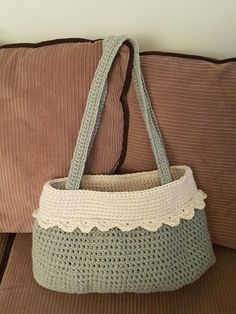 Sage and winter white fully lined large shoulder bag. Large Shoulder Bags, Winter White, Sage, Burlap, Reusable Tote Bags, Salvia, Hessian Fabric