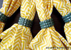 DIY Pyramid Stud Napkin Rings
