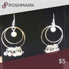Earrings Pink and silver Jewelry Earrings