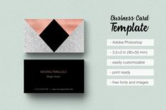 Rose Gold Glitter Business Card - Business Cards