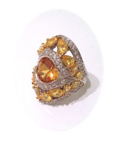 Vintage Citrine and Pave Estate Jewelry Ring , via Etsy.