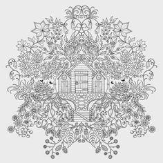 desenho adulto para colorir jardim secreto - Pesquisa Google