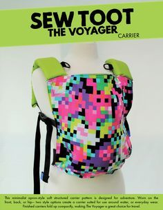 New Voyager pattern from Sew Toot --  two styles (make an everyday carrier or water friendly carrier)