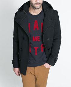 Image 1 of PIQUÉ DUFFLE COAT from Zara