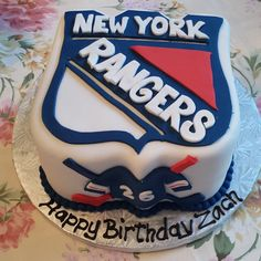 New York Rangers Birthday Cake