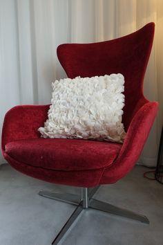 White Pillows, Designer Pillow, Egg Chair, Lounge, Interior Design, Luxury, Unique, Handmade, Furniture