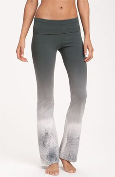 56a5bb7c549b6 Hard Tail Roll Waist Bootleg Flare Pants | Nordstrom. Yoga Clothing Brands Workout ...