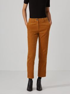 Cropped Corduroy Pant in Cathay Spice   Frank And Oak