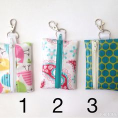 Laminated fabric coin purse money holder keychain by CoziesNmore $9