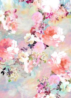 Most popular tags for this image include: flowers, wallpaper, background, floral and vintage Deco Floral, Motif Floral, Floral Prints, Pastel Floral, Bg Pastel, Floral Patterns, Pretty Patterns, Floral Fabric, Pastel Colors
