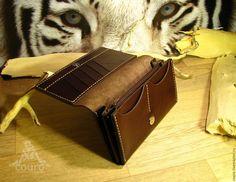 Женский кошелек из натуральной кожи коричневого цвета – купить или заказать в интернет-магазине на Ярмарке Мастеров | Женский кошелек из натуральной кожи красного…