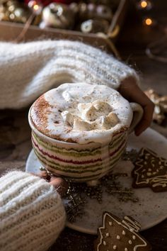 "Vanilla Mocha Hot Cocoa (recipe) - ""this is the hot cocoa I make every time the weather turns cool. It's so simple to make and not overly sweet. Yummy Drinks, Yummy Food, Thanksgiving Drinks, Chocolate Caliente, Hot Chocolate Recipes, Chocolate Smoothies, Hot Cocoa Recipe, Chocolate Shakeology, Half Baked Harvest"