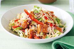 Satay pork & crispy noodle salad