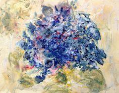 Encaustic painting  original art  handmade Blue. by HelenKilsby