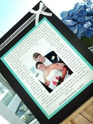 I want this!!!!!! Anniversary idea? Song lyrics to our first dance around one of our wedding pictures. Hmmmm.... :)