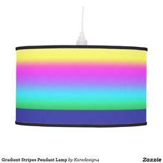Gradient Stripes Pendant Lamp