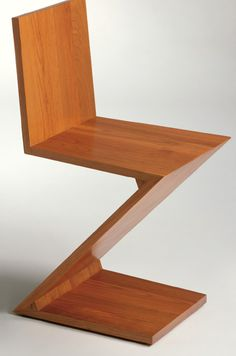 By Gerrit T. Rietveld, Zig Zag Chair, Year of drawing: 1 9 3 4, Cassina.