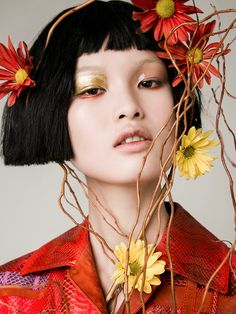 Xin Xie Blossoms In 'Flower Power' Images By William Lords For Models.com — Anne of Carversville
